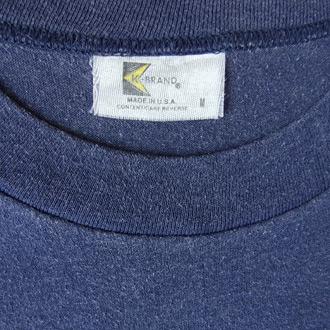 FORD MOTOR ヴィンテージTシャツのネック部分ディテール画像