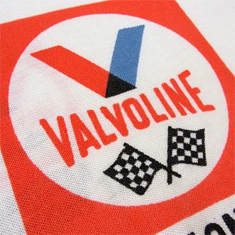 バルボリン モーターオイル ヴィンテージTシャツの背中染み込みプリント部分ディテール画像