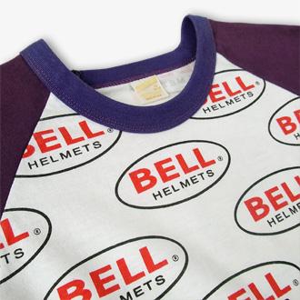 70s BELL HELMETS ヴィンテージTシャツのネック部分ディテール画像2