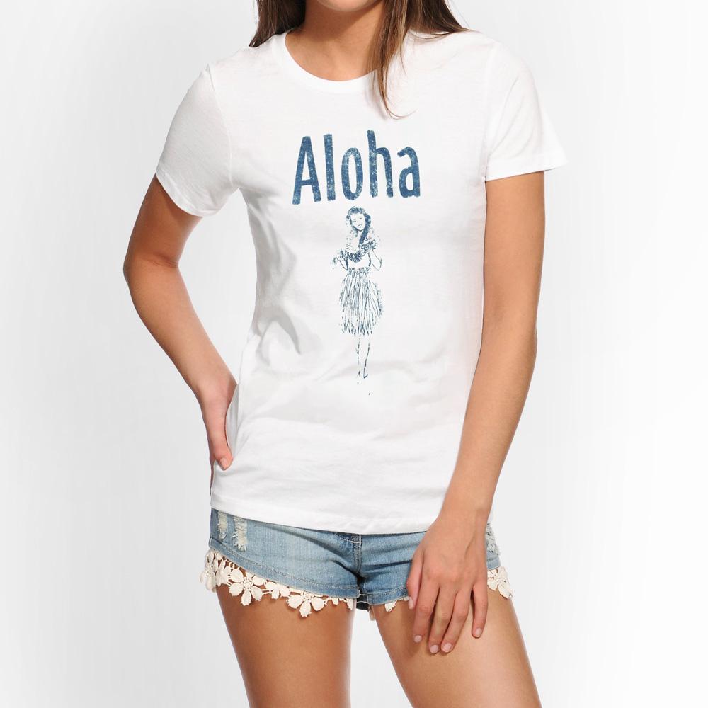 aloha レディースtシャツ